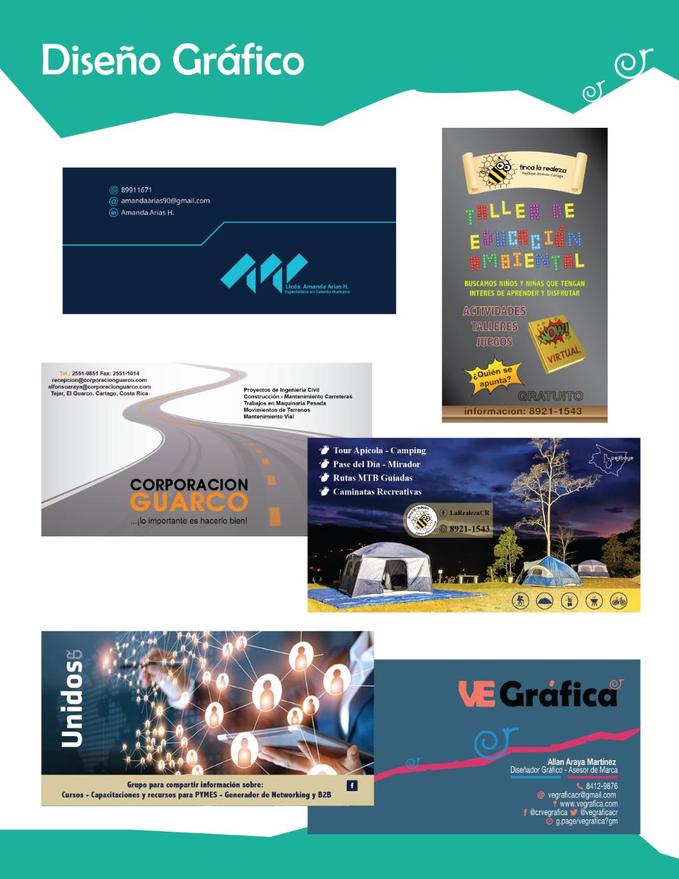 Diseño Gráfico para redes sociales, productos promocionales e impresión gran y pequeño formato.