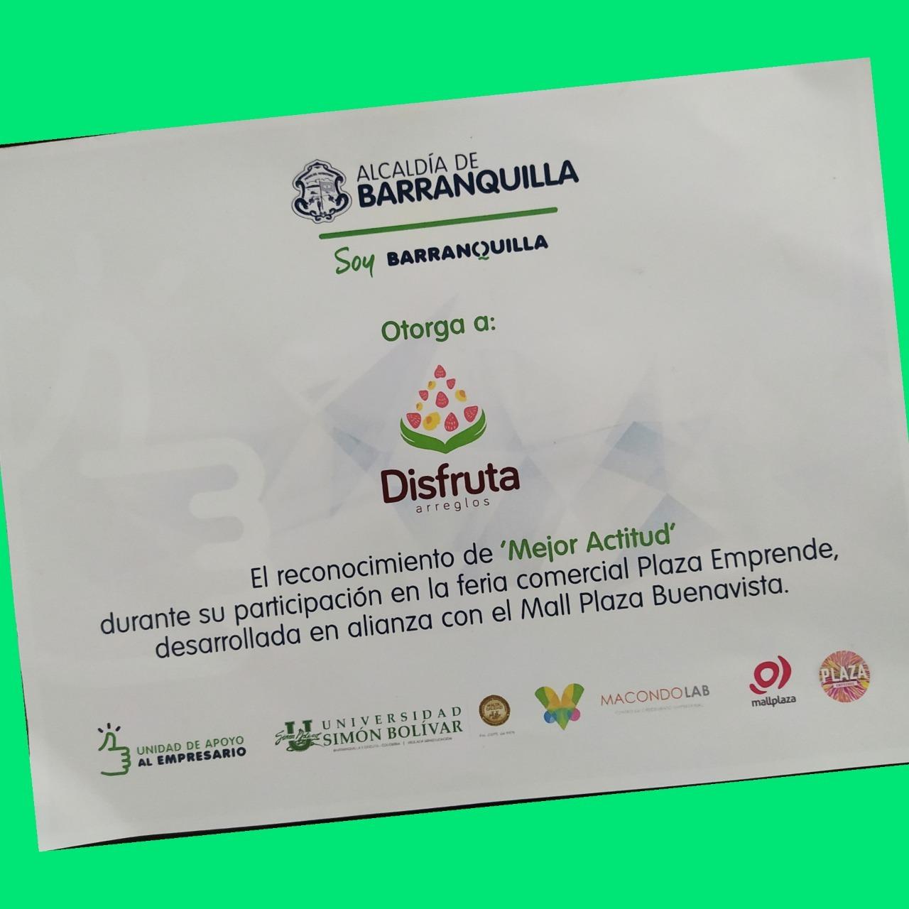 Reconocimiento de Alcaldía de Barranquilla